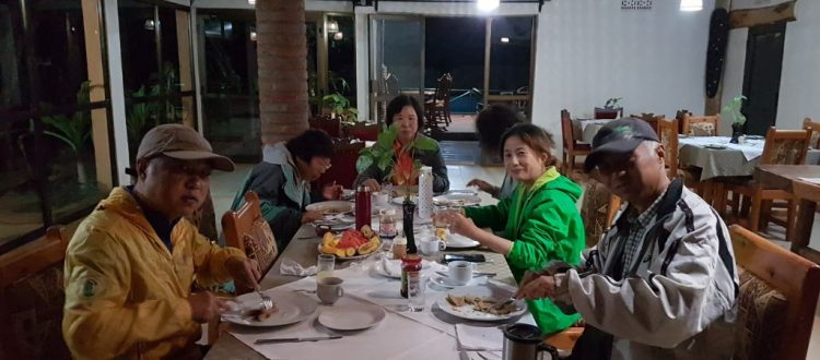 dinner during tanzania safaris